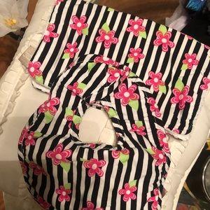 Matching bib and burp cloth set boutique find